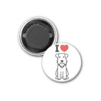 Tecknad för miniatyrSchnauzerhund Magnet