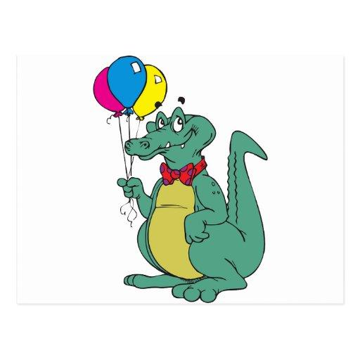 Tecknad för öde för firande för ballongpartyfödels vykort