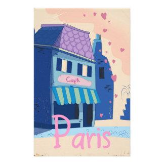 Tecknad för Paris gatavintage Brevpapper