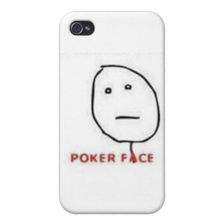 Tecknad för pokeransikteursinne iPhone 4 skal