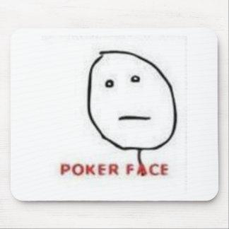 Tecknad för pokeransikteursinne musmattor