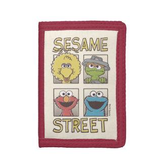 Tecknad för sesamStreetVintage tecken
