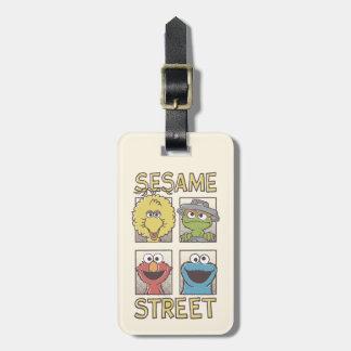 Tecknad för sesamStreetVintage tecken Bagagebricka