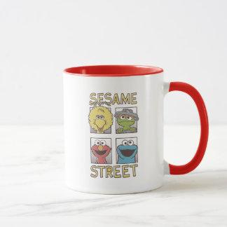Tecknad för sesamStreetVintage tecken Mugg