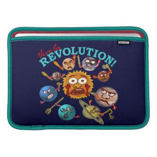 Tecknad för system för rolig planetrevolution sol- MacBook sleeve