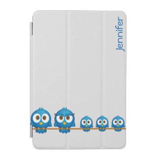 Tecknad för Twitterfågelfamilj iPad Mini Skydd