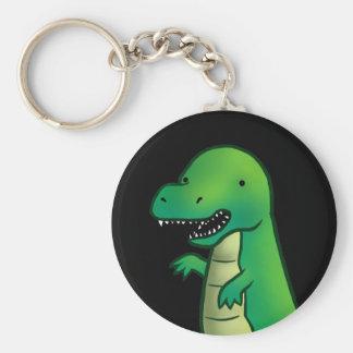 Tecknad för TyrannosaurusRex Dinosaur Rund Nyckelring
