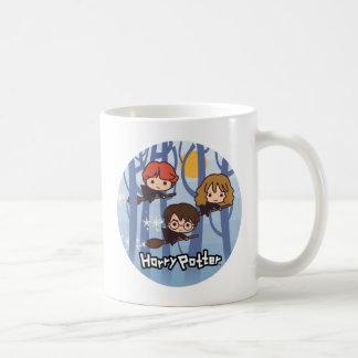 Tecknad Harry, Ron & Hermione flyg i skogen Kaffemugg