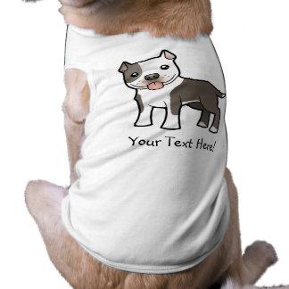 Tecknad Pitbull/amerikanStaffordshire Terrier Djur Tee Shirt