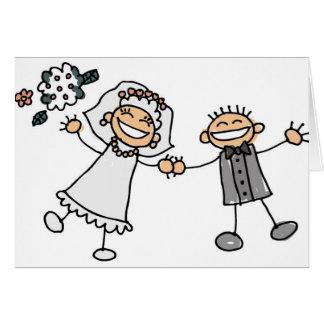 Tecknadbröllopmottagandet sparade datumen hälsningskort