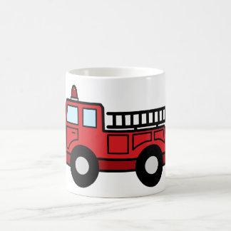 Tecknaden fäster ihop lastbilen för fordon för kaffemugg