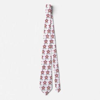 Tecknaden fäster ihop pilbågen för stjärnan för slips