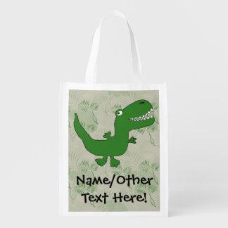 Tecknaden för den T-Rex TyrannosaurusRex Återanvändbar Påse