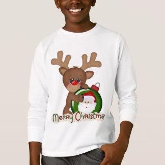 Tecknaden för julrenhelgdag lurar t-skjortan tee shirts