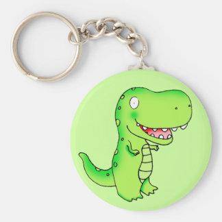 tecknaden lurar dinosauren T-rex Rund Nyckelring