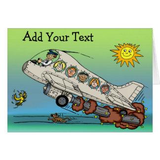 Tecknadflygplan Hälsningskort