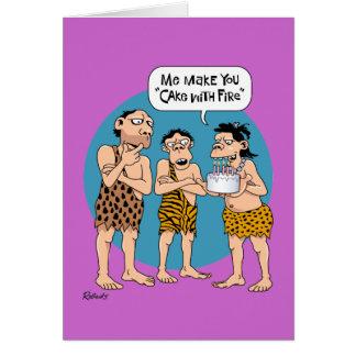 Tecknadfödelsedagkort Hälsningskort
