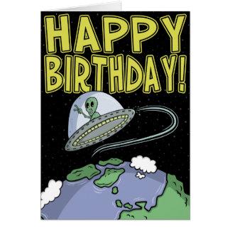 Tecknadfödelsedagkort: Ut ur denna värld Hälsningskort