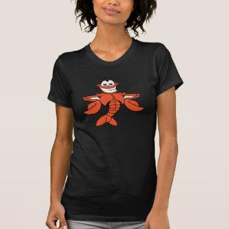 Tecknadhummerkvinna T-tröja T Shirt