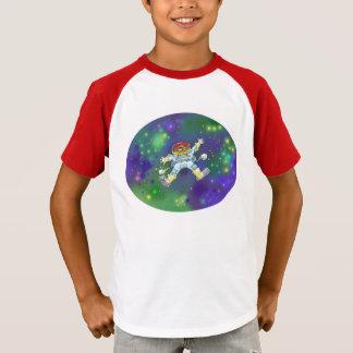 Tecknadillustration av en spaceman på enshirt. tee shirt