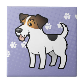 TecknadjackRussell Terrier Kakelplatta