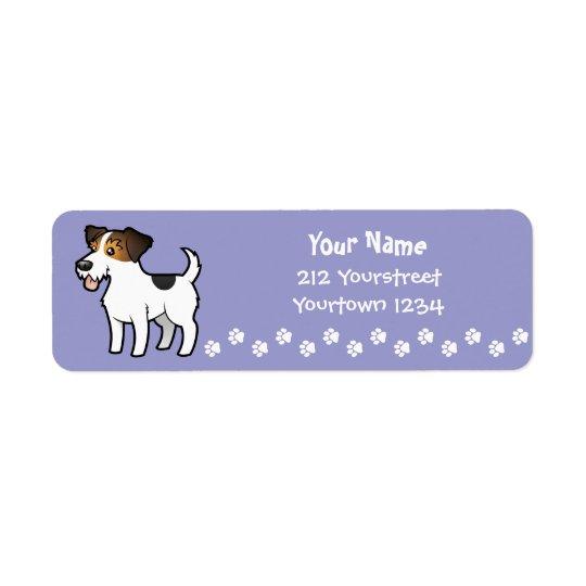 TecknadjackRussell Terrier Returadress Etikett