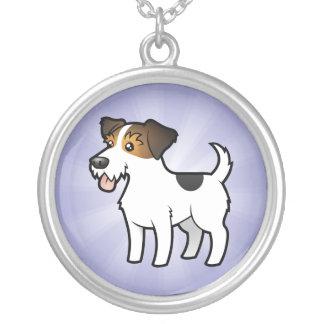 TecknadjackRussell Terrier Silverpläterat Halsband