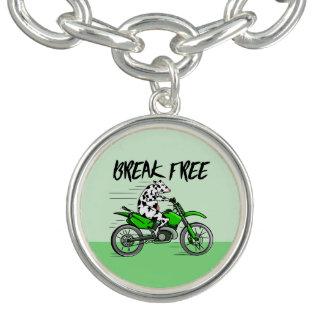 Tecknadko som rider en motorbike armband
