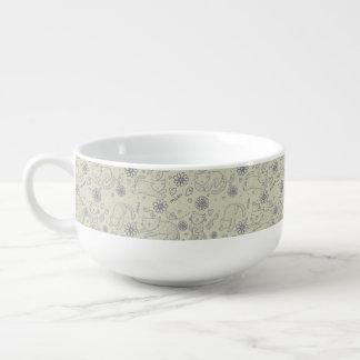 Tecknadmönster med roliga katter kopp för soppa
