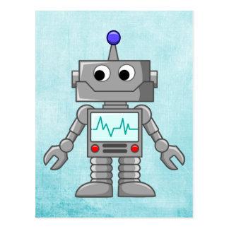 tecknadrobot vykort