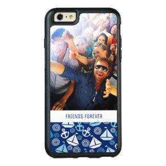 Tecknadsegelbåtmönster | din foto & text OtterBox iPhone 6/6s plus skal