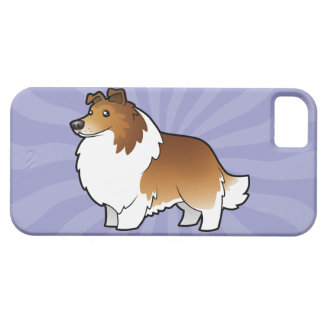 TecknadShetland Sheepdog/Collie iPhone 5 Case-Mate Cases