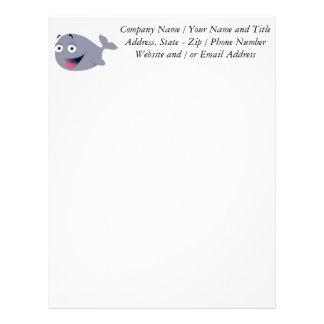 Tecknadval, havsdäggdjur brevhuvud