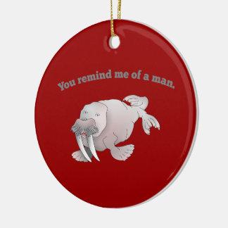 Tecknadvalrossen, påminner du mig av en man julgransprydnad keramik
