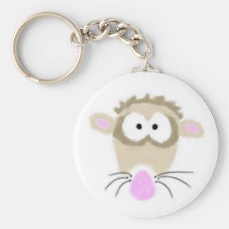 Tecknadvessla Keychain Rund Nyckelring