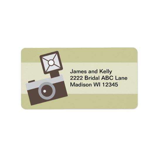 Tecknadvintagekamera Adressetikett