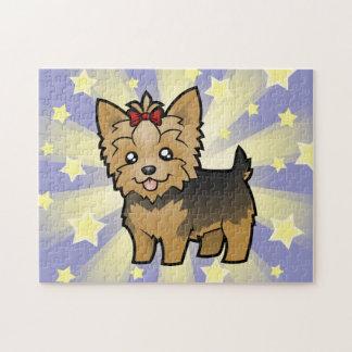 TecknadYorkshire Terrier (kort hår med pilbågen) Pussel