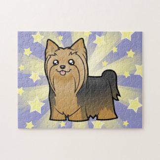 TecknadYorkshire Terrier (långt hår ingen pilbåge) Pussel