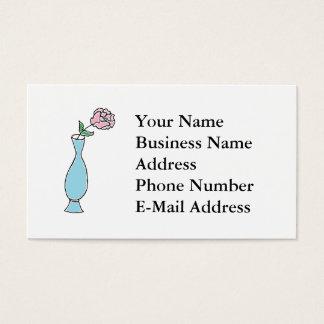 Teckning för blommaknoppvas visitkort
