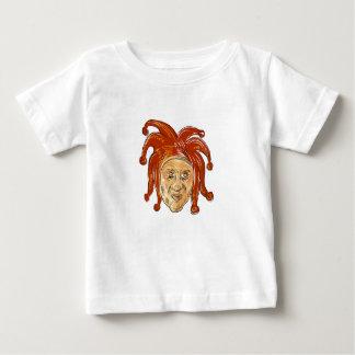 Teckning för domstolgyckelmakarehuvud t-shirts