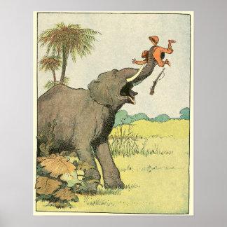 Teckning för elefantberättelsebok posters