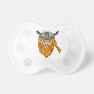 Teckning för huvud för NorsemanViking krigare Napp