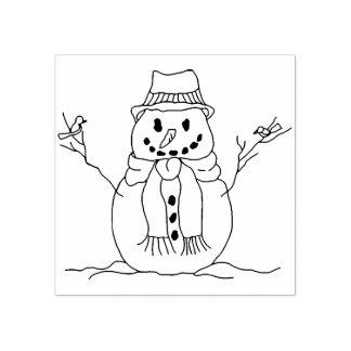 Teckning för illustration för snö för fåglar för stämpel
