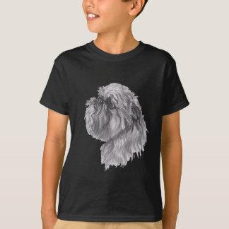 Teckning för konst för Bryssel Griffon hundkol Tee