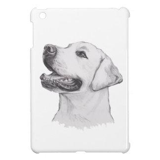 Teckning för porträtt för hund för Labrador iPad Mini Skal