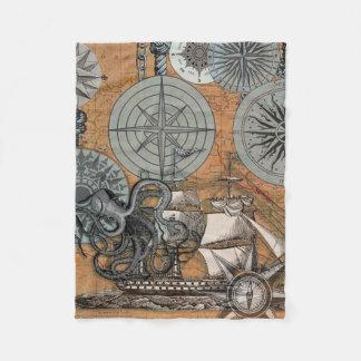 Teckning för tryck för konst för bläckfisk för fleecefilt