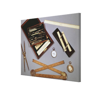 Teckningen instrumenterar använt av Isambard Canvastryck
