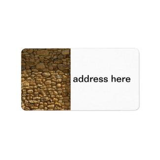Tegelstenväggbakgrund Adressetikett