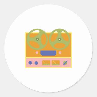 Tejpa spelare runt klistermärke