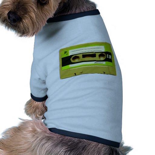 Tejpar den gröna Retro kassetten för limefrukt Tröja För Hundar